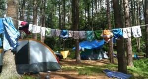 Camping diapers